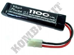 10.8 volt 1100mAH NiMH Re-Chargeable Airsoft Battery Tamiya Connector 28180